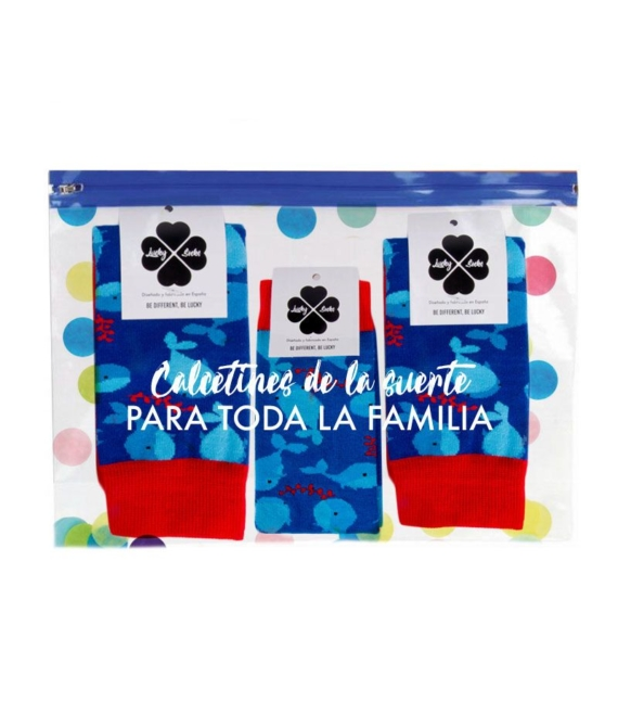 Calcetines Kit Family Ballenas