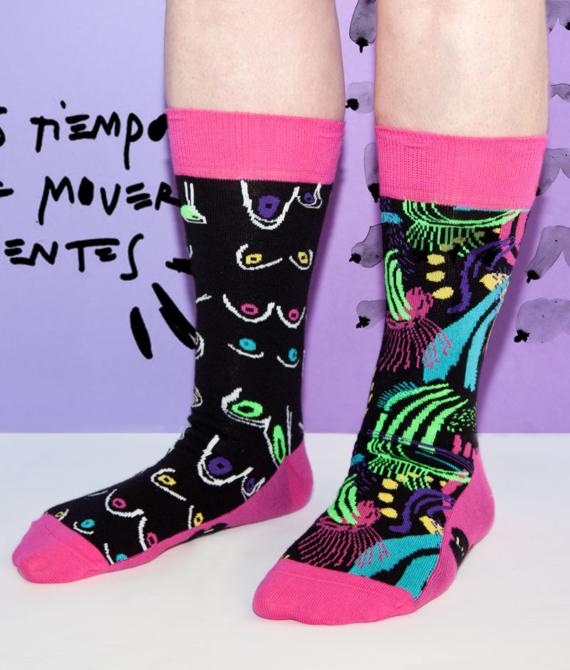 Calcetín 8M diseñado por Claudia Sahuquillo.
